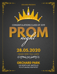 Grey and Gold Prom Night Flyer