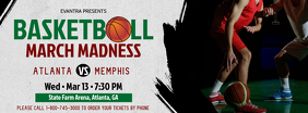 Grey and Maroon Basketball March Madness Facebook Cover