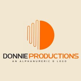 grey and orange alphanumeric d logo template