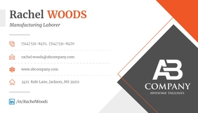 Grey and Orange Business Card