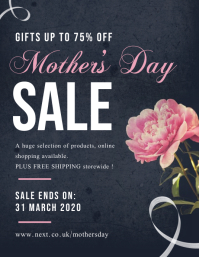 Grey and Pink Mother's Day Sale Flyer