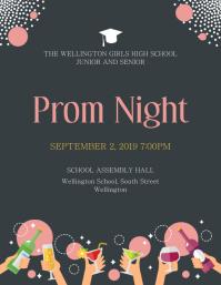 Grey and Pink Prom Prom Night Invitation Flye