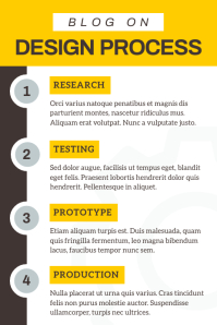 Grey and Yellow Blog Pinterest Infographic