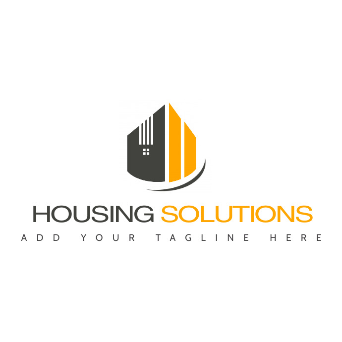 grey and yellow real estate logo template