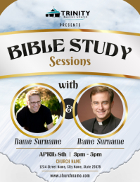 Grey Bible Study Lessons Flyer