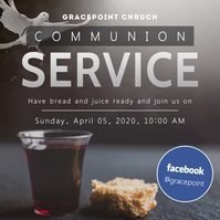 Grey bird online communion service instagram Square (1:1) template