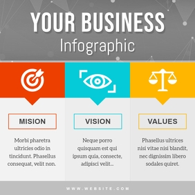 Grey Business Infographic Instagram Image