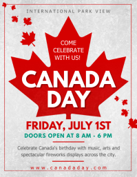 Grey Canada Day Event Flyer template