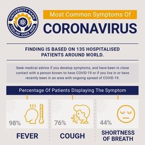 Grey CoronaVirus Awareness Instagram Image