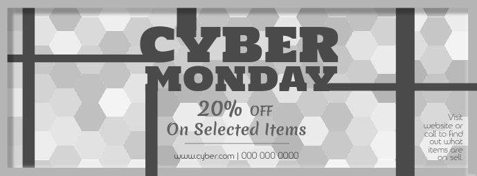 Grey Cyber Monday Facebook Cover Photo