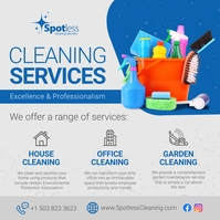 Grey Deep Cleaning Ad Instagram Image template