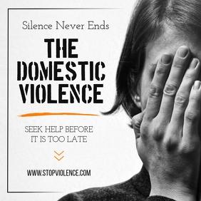 Grey Domestic Violence Instagram Image template
