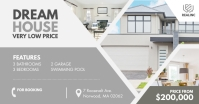 Grey Dream House Real Estate Facebook Post template