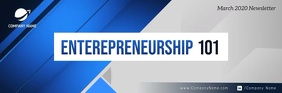 Grey Entrepreneurship Video Email Header E-poskop template