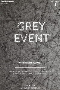 Grey event party flyer template Póster