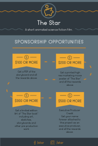 Grey Event Sponsorship Program Poster