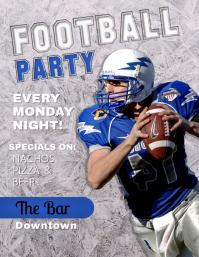 Grey Football Tailgate Party Flyer template