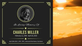 Grey Funeral Announcement Digital Display Video