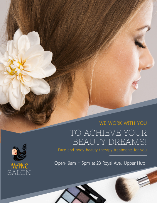 Grey Hair Salon Flyer