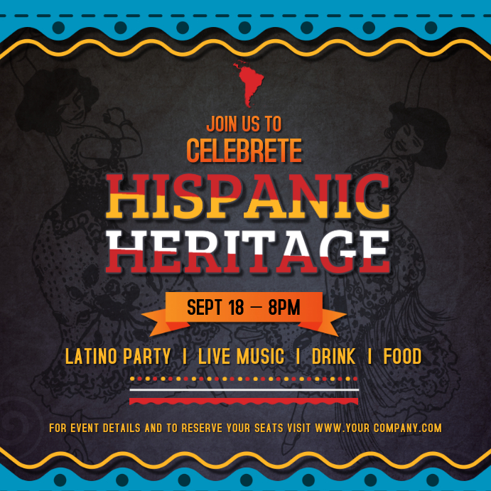 Grey Hispanic Heritage Month Instagram Image