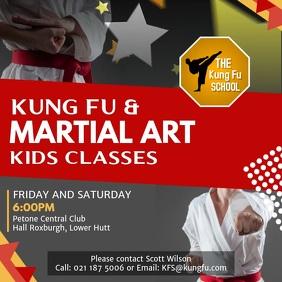 Grey Karate Classes Ad Square Video