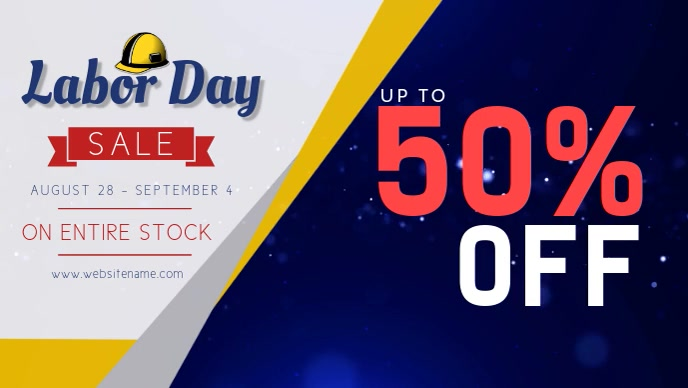 Grey Labor Day Sale Facebook Cover Video