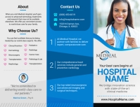 Grey Medical Trifold Brochure Pamflet (Letter AS) template