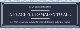 Grey Ramadan Wish Facebook Cover Template