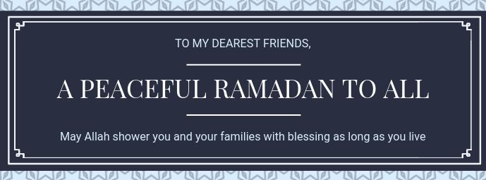 Grey Ramadan Wish Facebook Cover Template