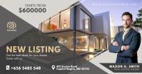 Grey Real Estate Facebook Post template