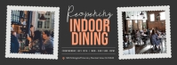 Grey Reopening Indoor Dining Facebook Cover P template