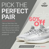 Grey Shoes Ad Instagram Image template