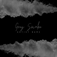 Grey Smoke Video Album Mixtape Insta Cover Persegi (1:1) template