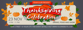 Grey Thanksgiving Celebration Facebook Cover Photo