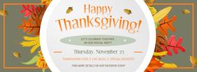 Grey Thanksgiving Facebook Cover Photo