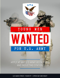 Grey Wanted Army Recruitment Flyer