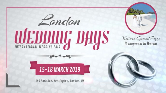 Grey Wedding Fair Digital Display Landscape Video template