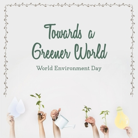 Grey World Environment Day Instagram Image