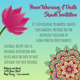 Griha Pravesh Housewarming Invitation