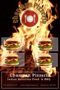 Grill Burger-Pinterest template