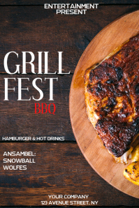 Grill fest event flyer template