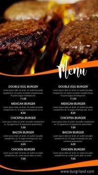 Grill Food Restaurant Menu Video Template