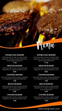 Grill Food Restaurant Menu Video Template