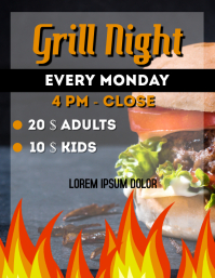 grill night flyer