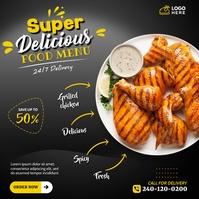 Grilled Chicken Instagram-bericht template