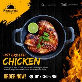 Grilled Chicken Social Media Post Instagram-bericht template