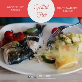 Grilled Fish Instagram Video Template