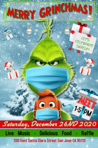 Grinch Poster template