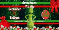 Grinch Party Flyer Facebook-evenementomslag template