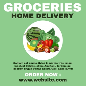 Groceries home delivery instagram post